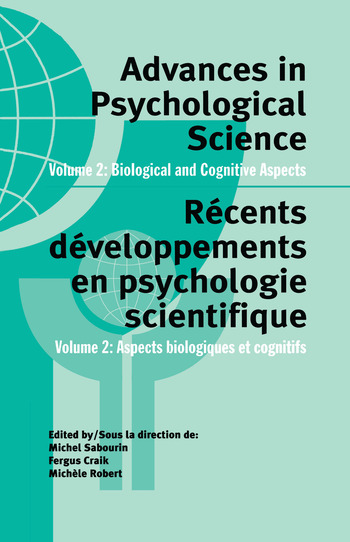 Advances in Psychological Science, Volume 2 Biological and Cognitive Aspects book cover