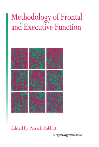 Methodology Of Frontal And Executive Function book cover