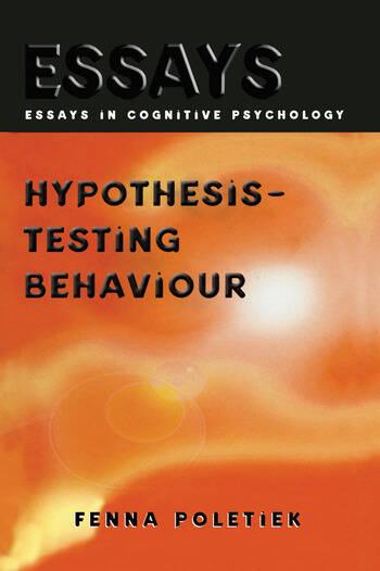 Hypothesis-testing Behaviour book cover