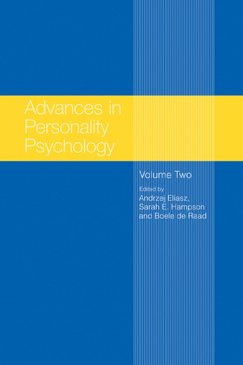 Advances in Personality Psychology Volume II book cover