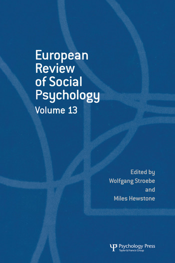 European Review of Social Psychology: Volume 13 book cover