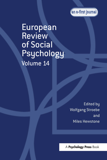 European Review of Social Psychology: Volume 14 book cover