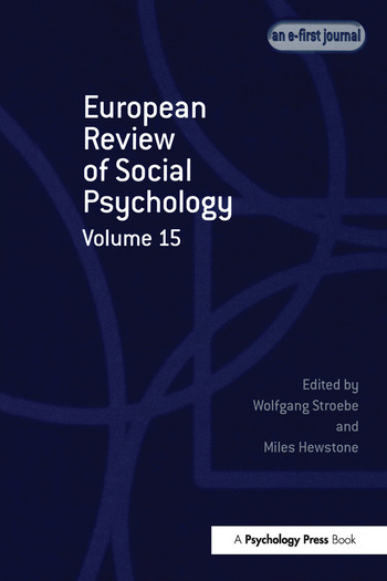 European Review of Social Psychology: Volume 15 book cover