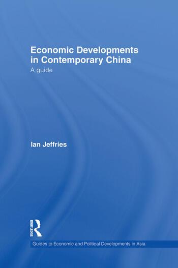 Economic Developments in Contemporary China A Guide book cover