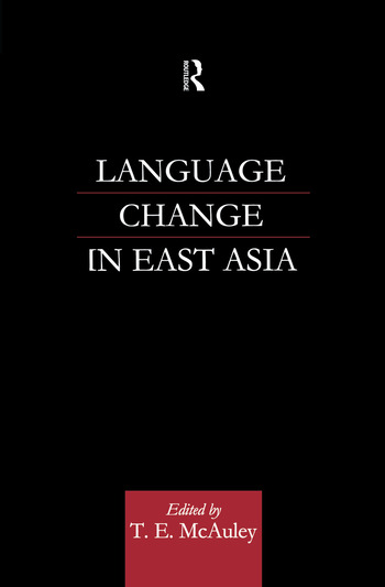 Language Change in East Asia book cover