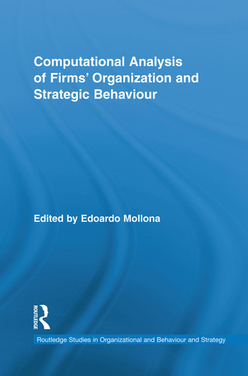 Computational Analysis of Firms' Organization and Strategic Behaviour book cover