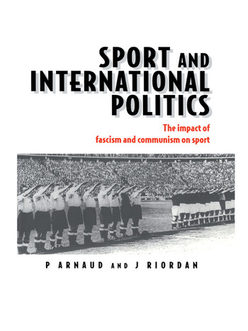 Sport and International Politics Impact of Facism and Communism on Sport book cover