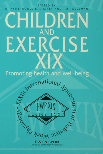 Children and Exercise XIX Promoting health and well-being book cover