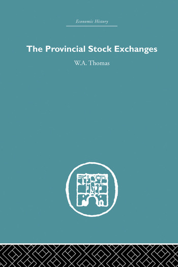 Provincial Stock Exchanges book cover