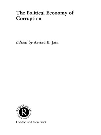 The Political Economy of Corruption book cover