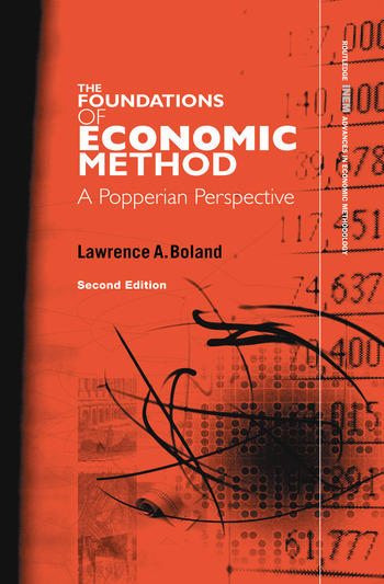 Foundations of Economic Method A Popperian Perspective book cover