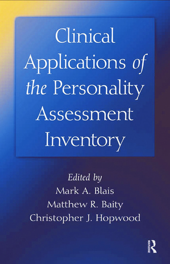 Clinical Applications of the Personality Assessment Inventory book cover