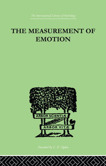 The Measurement of Emotion book cover