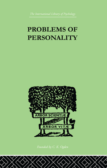 Problems of Personality Studies Presented to Dr Morton Prince, Pioneer in American book cover