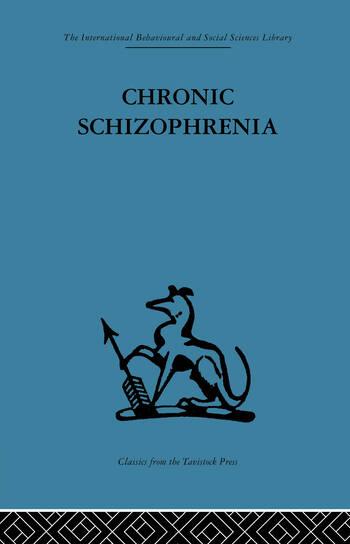 Chronic Schizophrenia book cover