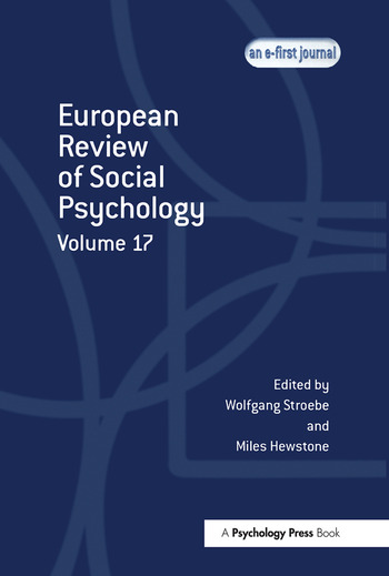 European Review of Social Psychology: Volume 17 book cover