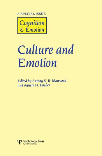 Culture and Emotion A Special Issue of Cognition and Emotion book cover