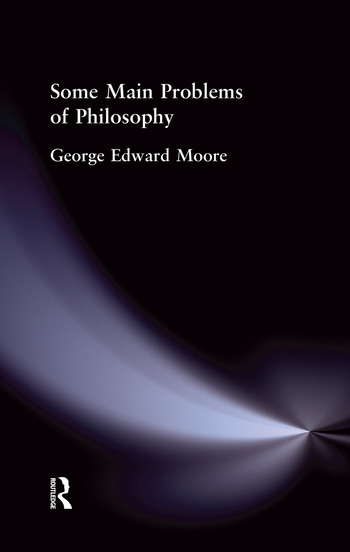 Some Main Problems of Philosophy book cover