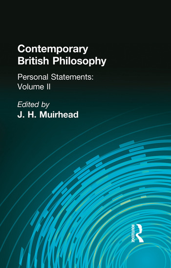 Contemporary British Philosophy Personal Statements Second Series book cover