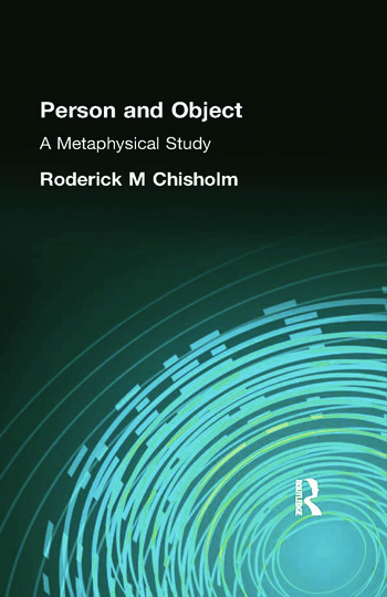 Person and Object A Metaphysical Study book cover