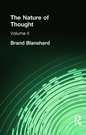 The Nature of Thought Volume II book cover