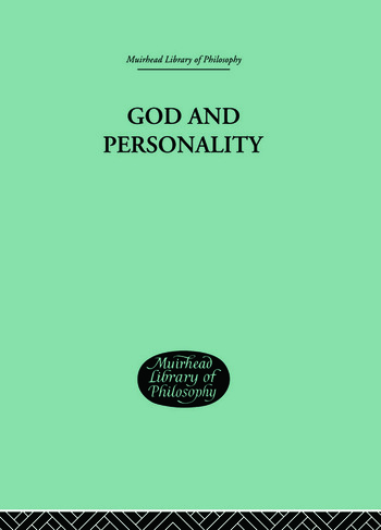 God and Personality book cover