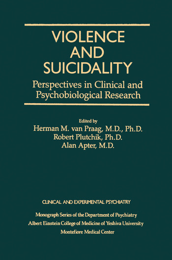 Violence And Suicidality : Perspectives In Clinical And Psychobiological Research Clinical And Experimental Psychiatry book cover