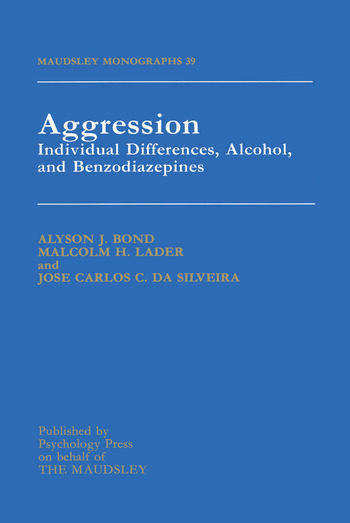 Aggression Individual Differences, Alcohol And Benzodiazepines book cover