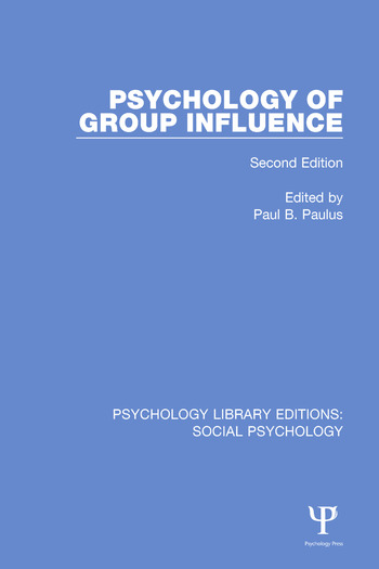 Psychology of Group Influence Second Edition book cover