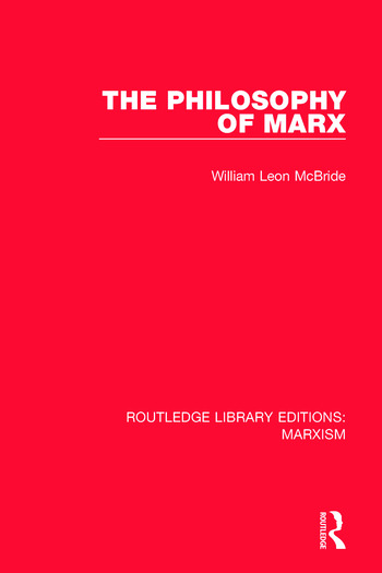 The Philosophy of Marx book cover