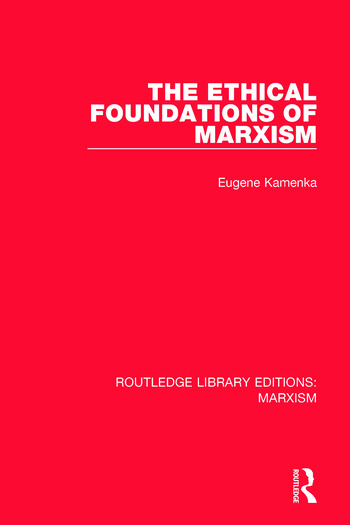 The Ethical Foundations of Marxism book cover
