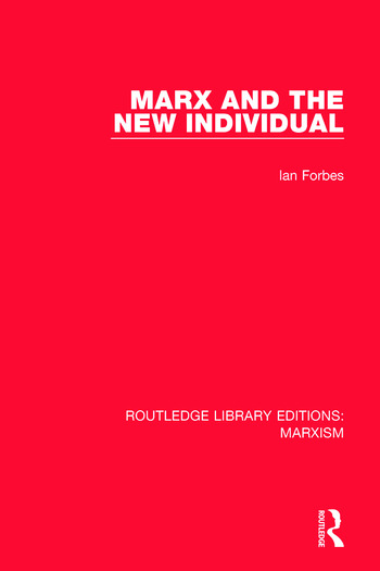 Marx and the New Individual book cover