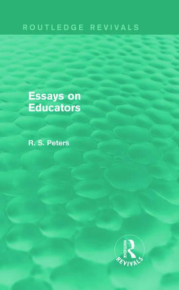 Essays on Educators (Routledge Revivals) book cover