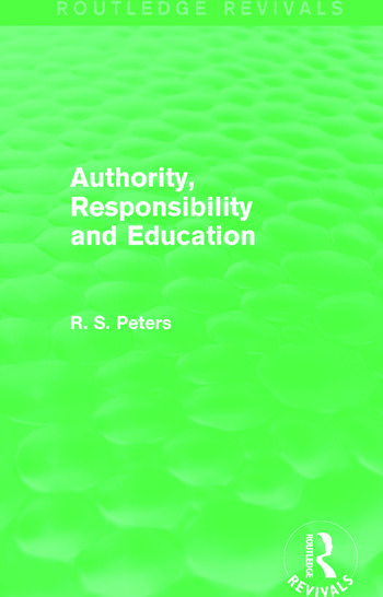 Authority, Responsibility and Education book cover