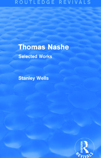Thomas Nashe (Routledge Revivals) Selected Works book cover