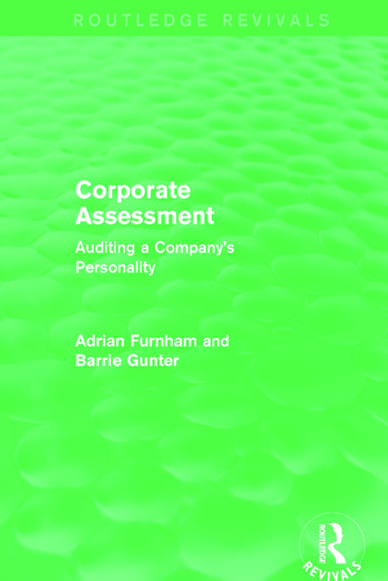 Corporate Assessment (Routledge Revivals) Auditing a Company book cover