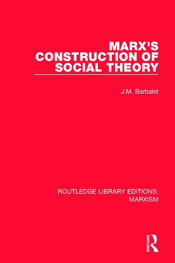 Marx's Construction of Social Theory book cover