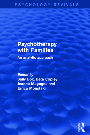 Psychotherapy with Families An Analytic Approach book cover
