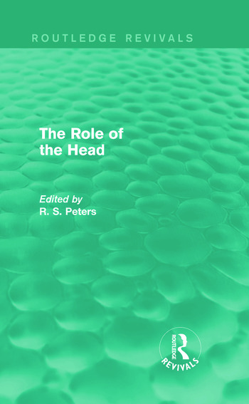 The Role of the Head (Routledge Revivals) book cover