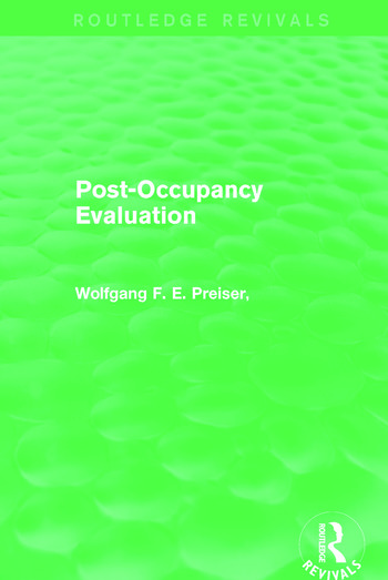 Post-Occupancy Evaluation (Routledge Revivals) book cover