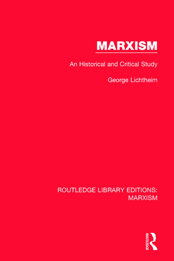 Marxism An Historical and Critical Study book cover
