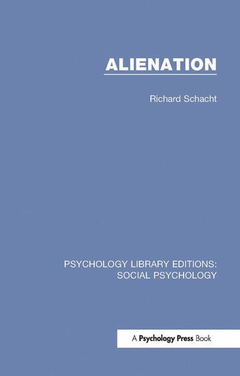 Alienation book cover