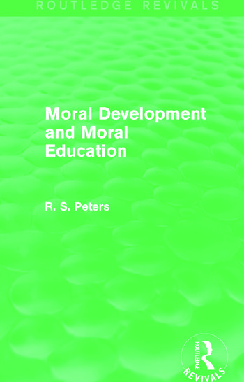Moral Development and Moral Education (Routledge Revivals) book cover