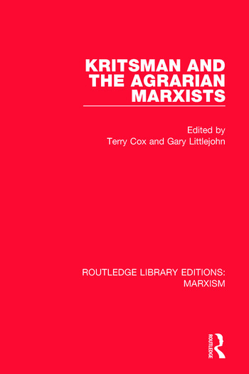 Kritsman and the Agrarian Marxists book cover