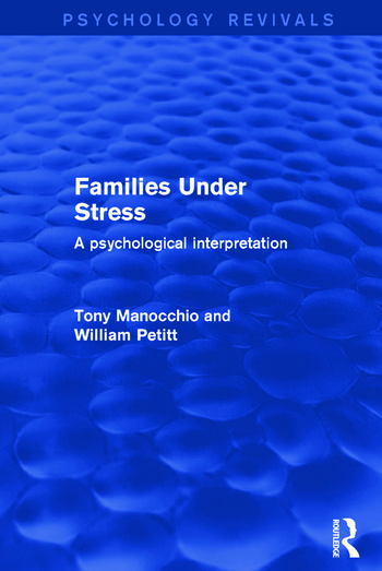 Families Under Stress A Psychological Interpretation book cover