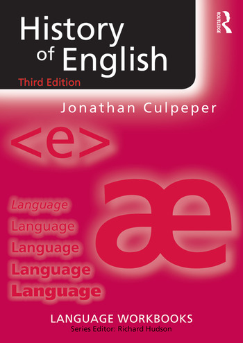 History of English book cover