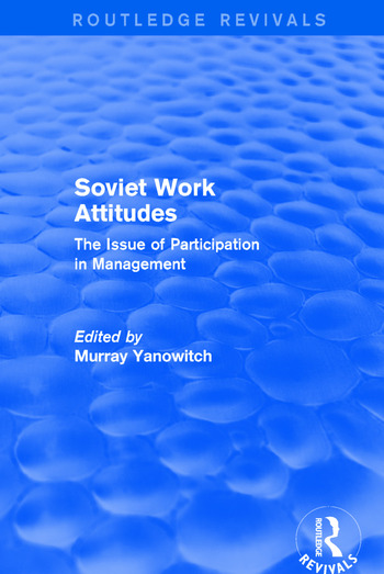 Revival: Soviet Work Attitudes (1979) book cover