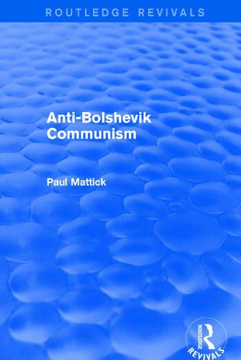 Revival: Anti-Bolshevik Communism (1978) book cover