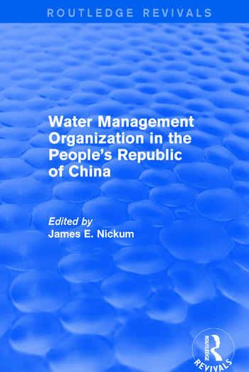 Revival: Water Management Organization in the People's Republic of China (1982) book cover