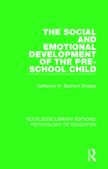 The Social and Emotional Development of the Pre-School Child book cover